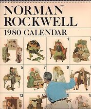 Norman Rockwell 1980 Calendar 1979 Saturday Evening Post Wall Calendar 011117DBE