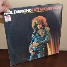 NEIL DIAMOND Hot August Night 2 LP ORIGINAL MASTER RECORDING AUDIOPHILE
