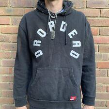 Drop Dead mens black logo hoodie M