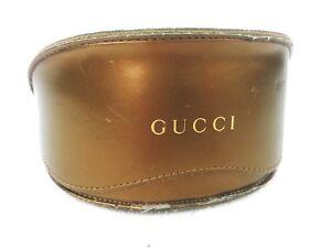 Gucci Authentic Large Sunglasses Case Soft Leather Gold Color