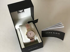 NEW ARRIVAL! ANNE KLEIN GOLD-TONE LIGHT PINK HORN RESIN BANGLE WATCH SALE