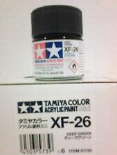 Tamiya acrylic paint XF-26 Deep green 10ml Mini.