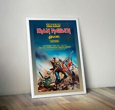 More details for iron maiden reproduction concert poster wall art dallas vintage metal picture