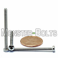M2.5 x 35mm - Qty 10 - Stainless Steel Phillips Pan Head Machine Screws DIN 7985
