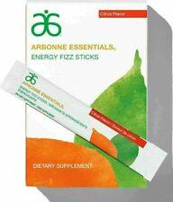 Arbonne Essentials Energy Fizz Sticks Citrus Flavour 30x Sachets Free UK Postage
