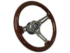 1968 - 1973 Mercury Cougar Mahogany Steering Wheel Kit | Cougar 3D Emblem