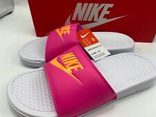 Nike Benassi JDI Womens Size 8 343881-109 White Pink - Brand New!