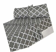 Utopia Bedding 4-Piece Bed Sheet Set (King, Grey) - 1 Flat Shee. Free Shipping