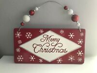 Ceramic' Merry Christmas' Wall Hanging by Real Home