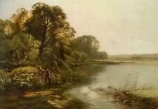 Dream-art Oil painting henry john boddington early mornings on the thames canvas