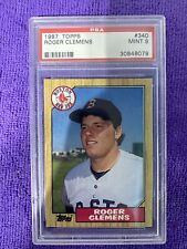 1987 Roger Clemens Topps #340 PSA 9 checkout other auctions