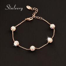 Hot Fashion Crystal Ball Bracelets Bangle For Women 18K Rose/White Gold Sl356