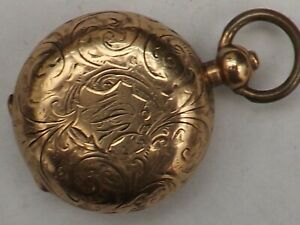 a fine antique dennison gold plated cased sovereign holder