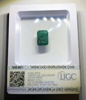 Emeraude Naturelle 10,75 ct,D'origine Zambie🇿🇲 Certificat IJGC Anvers 🇧🇪