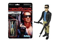 Terminator T-800 Cuero Chaqueta Reaction 3 3/4 Pulgadas Retro Figura-Nuevo en la acción