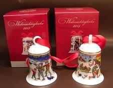 Hutschenreuther Porzellanglocken / Weihnachtsglocken Set: Motive  2013 und 2014