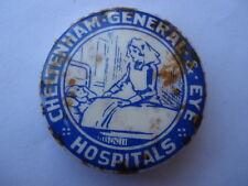 SCARCE C1920S VINTAGE CHELTENHAM GENERAL EYE HOSPITAL TIN PIN BADGE