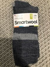 Smartwool Barnsley Crew Mens Large Socks Grey Navy Blue 9-11.5 - NEW