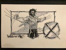 Wolverine colored Original Art Sketch commission 11x17 x-men by Romano