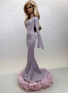 Metallic Light Lilac Gown Handmade by KK Fits Fashion Royalty, FR2, NuFace