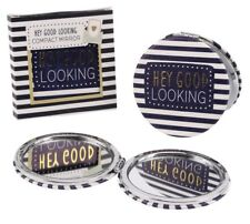 Hey good looking compact mirror. GIFT. Handbag.Birthday gift.Gift for loved one.