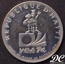 HAITI 1973 25 Gourdes World Soccer Championship Games Silver Coin ~ KM#103