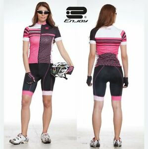 Cycling Suit Woman's With 🚴 Pink Dot(sz: L)