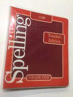 ACSI Spelling Grade One 1 Teacher Edition 1991 Edition incl. Blackline Masters