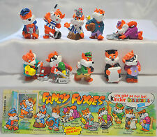 KINDER FERRERO SURPRISE SERIE COMPLETA FANCY FUXIES VOLPI FOXES +1 CARTINA (D)