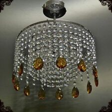 Crystal Glass Chandelier chandlier Chandalier Ceiling Light Chrome MO30Alm/Topaz