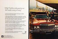 1974 Cadillac Eldorado Coupe Car Shore Ships Vintage Color Photo Print Ad