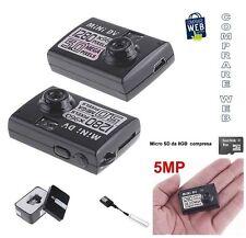 VIDEOCAMERA MINI DV 1280x960 5 MPIXEL MICROCAMERA SPIA CIMICE SPY CAM + SD 8GB