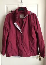 Joules Women's Pink Rain Proof Coat With Removable Thermal Layer Size 16