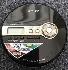 Walkman Sony DNF340 CD y MP3 Player con FM Sintonizador-Probado Y Funcionando