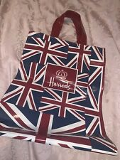 Harrods Union Jack Small Shopping Tote Bag