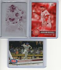 (3) Chicago Cubs Addison Russell 1 of 1 Lot 1/1