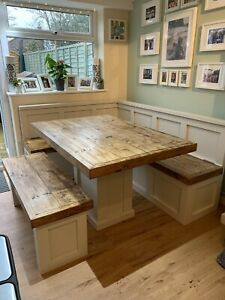 Modern Farmhouse banquette seating Table Set