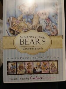 Crafters Companion Meadow Cottage Bears CDRom Christine Haworth Interactive Coll