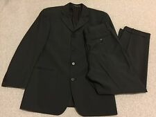 Hugo Boss Men's Black Stretch Wool Suit Blazer Jacket Sport Coat 38R 32x27 Pants