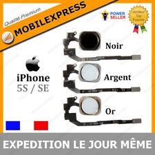NAPPE + BOUTON HOME IPHONE 5S / 5SE / 5 SE EN BLANC / ARGENT / OR / DORE / NOIR