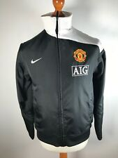 Manchester United Nike S Small Lightweight Jacket AIG Black Excellent Condition