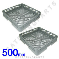 X2 OFF 500 x 500 DISH-WASHER CUTLERY TRAYS RACKS BASKETS 500mm SQUARE RB NISBETS