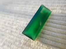 Calcedoine verte taille baguette pierre gemme à sertir Brésil  4,58 carats V29