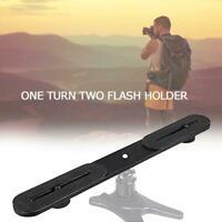 Camera Bracket Hot Shoe Arm Bracket Tripod Stand Holder SLR Black For DSLR J1J9