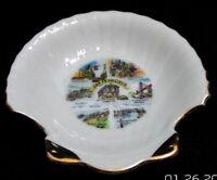 Vintage San Francisco Souvenir Porcelain Shell Shape Soap Dish Trinket Tray