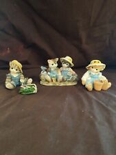 Calico Kittens By Enesco Gardening Trio with one Double Figurine