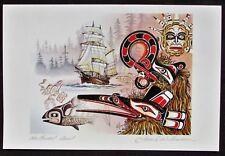 Northwest Coast-Signed-James Williamson Art Card-Native-Canadian-Eskimo