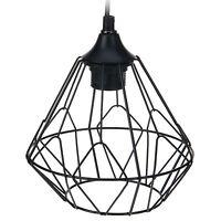 Modern Black Geometric Metal Wire Hanging Ceiling Light Pendant Fixture Shade
