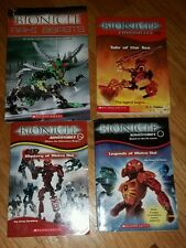 4 Boys Bionicle Books  Chronicles Adventures Bionicles