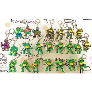 Mutant Ninja Turtles Leonardo Key Chain Mini Figure Mascot Vintage Set 1994